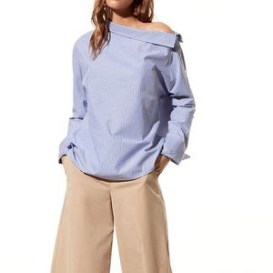 Aritzia Babaton Abram Striped Blouse Size XS